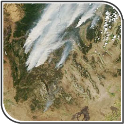 MODIS image - Central Idaho Fires (Aug 2007)